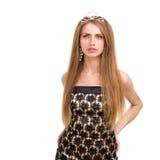 Beautiful girl with diadem Stock Photo