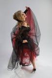 Beautiful girl in diaphanous dress Royalty Free Stock Photos
