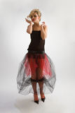 Beautiful girl in diaphanous skirt Stock Photos