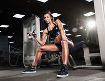 Beautiful girl doing exercises Stock Photo