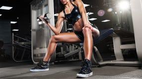 Beautiful girl doing exercises Stock Image