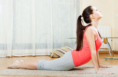 Beautiful girl doing exercises royalty free stock image