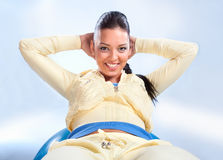 Beautiful  girl doing fitness Royalty Free Stock Photo