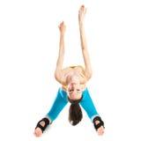 Beautiful girl doing gymnastics Royalty Free Stock Photos