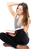 Beautiful  girl doing homework Royalty Free Stock Images