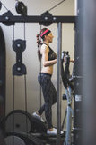 Beautiful girl doing workout in the gym Royalty Free Stock Photo