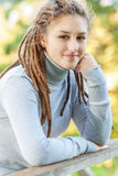 Beautiful girl with dreadlocks Royalty Free Stock Images