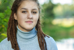 Beautiful girl with dreadlocks Royalty Free Stock Photo