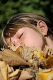 Beautiful girl dreaming Royalty Free Stock Image