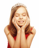 Beautiful girl dreaming with closed eyes Royalty Free Stock Photo