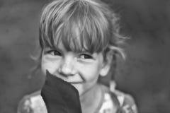 Beautiful girl dreams Stock Image