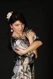 Beautiful girl in  dress Stock Image