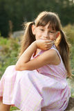 Beautiful girl in a dress Royalty Free Stock Photography