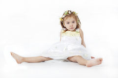 Beautiful girl in dress Stock Photos