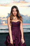 Beautiful girl in a dress Stock Photo