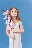 Beautiful girl in the dress of the goddess Royalty Free Stock Image