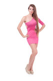 Beautiful girl in a dress. Royalty Free Stock Images