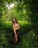 Beautiful girl in dress posing Stock Photography