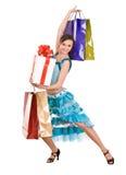 Beautiful girl in dress shopping. Stock Photo