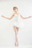 Beautiful girl dressed as a ballerina. Fashion makeup. Royalty Free Stock Image