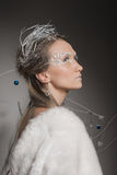 Beautiful girl dressed as the image of the Snow Queen Stock Photography