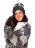 Beautiful girl dressed in winter clothing Stock Photo