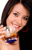 Beautiful girl with a drink Royalty Free Stock Photography