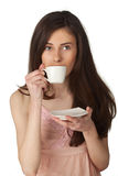 Beautiful girl drinking coffee Royalty Free Stock Images