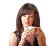 Beautiful girl drinking tea Stock Photography