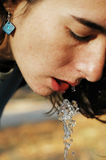 Beautiful girl drinking water Stock Image