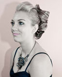 Beautiful Girl with Elegant Hairstyle Royalty Free Stock Photos