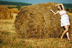 Beautiful girl enjoying the nature Royalty Free Stock Image