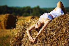 Beautiful girl enjoying the nature Stock Photos