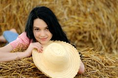 Beautiful girl enjoying the nature Royalty Free Stock Images