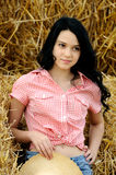 Beautiful girl enjoying the nature Stock Photography