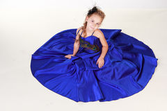 Beautiful girl in evening dress Royalty Free Stock Image
