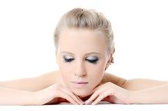 The beautiful girl with Evening make-up Stock Photos