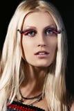Beautiful girl with an evening make-up Stock Photos