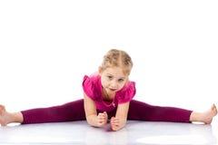 Beautiful girl exercising Royalty Free Stock Photos