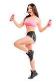 Beautiful girl exercising Royalty Free Stock Images