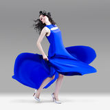 Beautiful Girl In Exquisite Fashion Style Dance Stock Photos