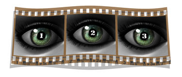 Beautiful girl eye in 3D Stock Photography