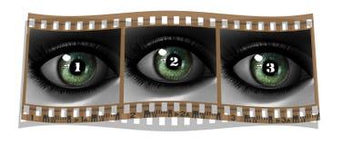 Beautiful girl eye in 3D. Film with beautiful girl eye in 3D Stock Photography