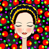 Beautiful girl with  eye closed Royalty Free Stock Photos