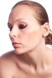 Beautiful girl and eye makeup Stock Image