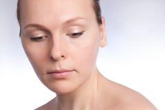 Beautiful girl and eye makeup Stock Images