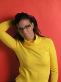 Beautiful girl with eyeglasses Stock Photos
