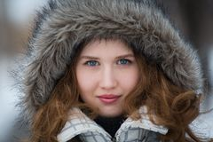Beautiful girl face - close up Royalty Free Stock Image