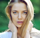 Beautiful girl face - close up Royalty Free Stock Photography