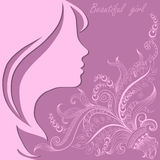 Beautiful girl face with lace pattern Royalty Free Stock Photo